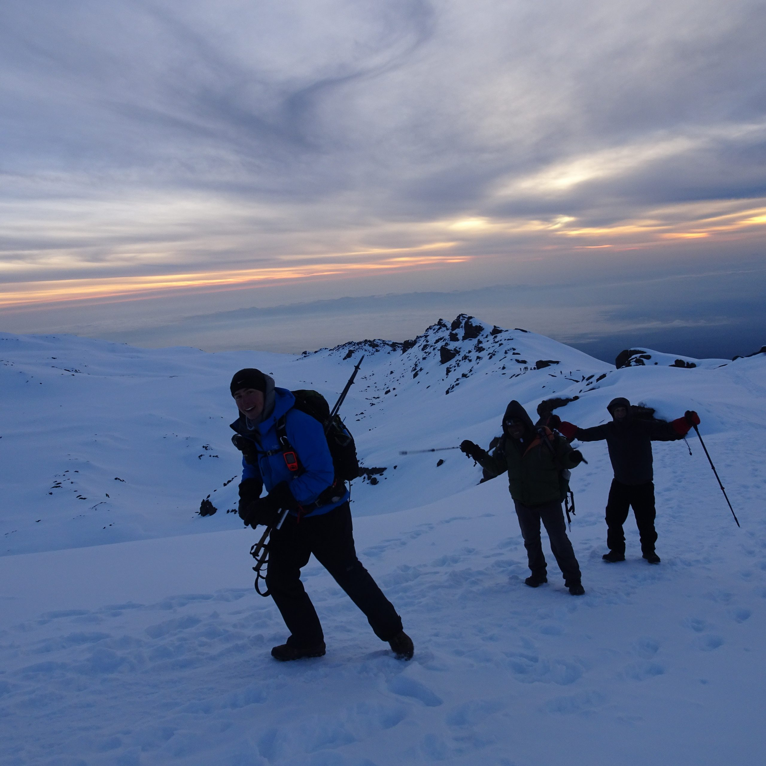 Day Six – Kibo Camp (4,700 m/15,419 ft) – Summit via Gillman's Point (5,685 m/18,651 ft) to Uhuru Peak (5,895 m/19,340 ft) and descent to Horombo Hut (3,720 m/12,205 ft)